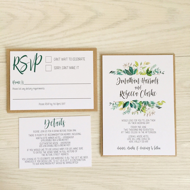 9 Beautiful Affordable Greenery Invitations Greenery Wedding