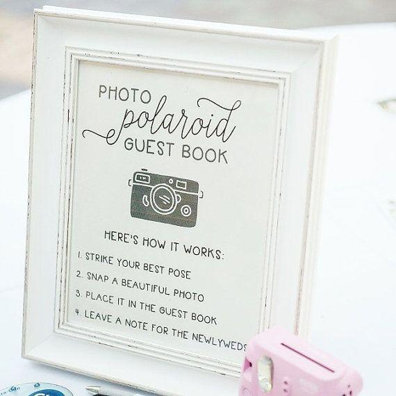 Polaroid Guest Book Ideas: Wedding Polaroid Guest Book Guestbook By ElleLaneDesign On