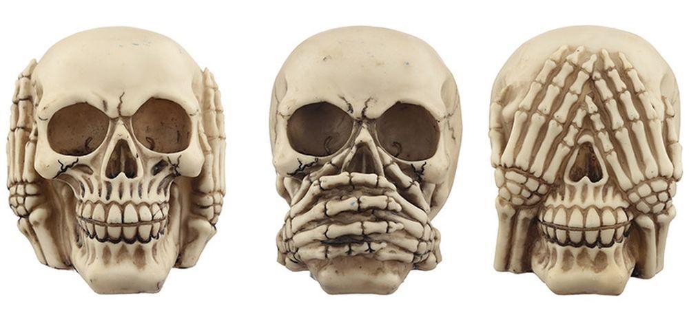 Three Wise Human Skulls See No Hear No Speak No Evil Fun Decorative Figures Skull Decor Skull Skull Tattoos