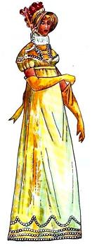 empírový ženský odev