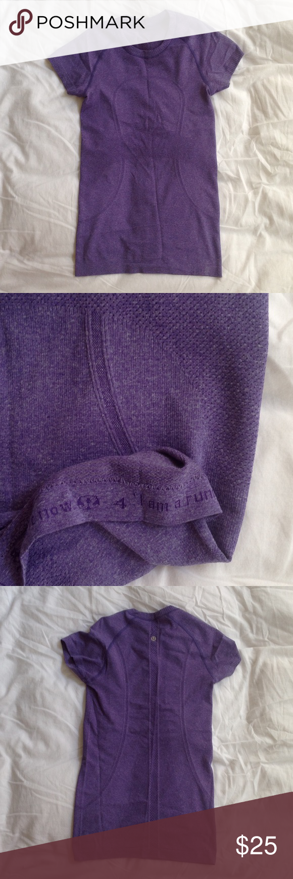 Lululemon size 4 purple swiftly SS No stains, rips or tears. In like new condition Tops Tees - Short Sleeve