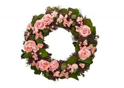 ÇİÇEK 14YH0038-1 PEMBE | Floral wreath, Decor, Floral