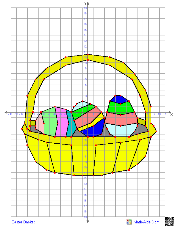 Easter Basket - 4 Quadrant Graphing Worksheet | Math-Aids.Com ...