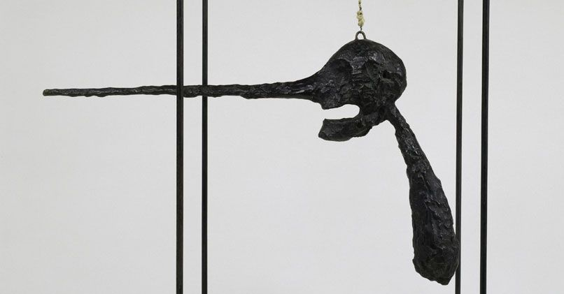 Alberto Giacometti, The Nose (Le Nez), 1947, Bronze, wire, rope and ...