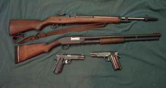 Old school setup for 3-Gun competition  | The Gun Aficionado