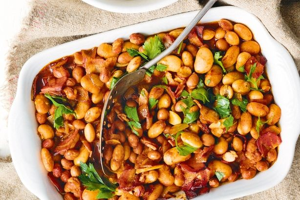 Spiced oven-baked beans with pancetta. I recently made this, simply delicious. Cheers! Mandy