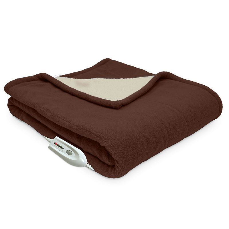 Serta Heated Warming Electric Throw Brown Products Adorable Heating Blanket Throw