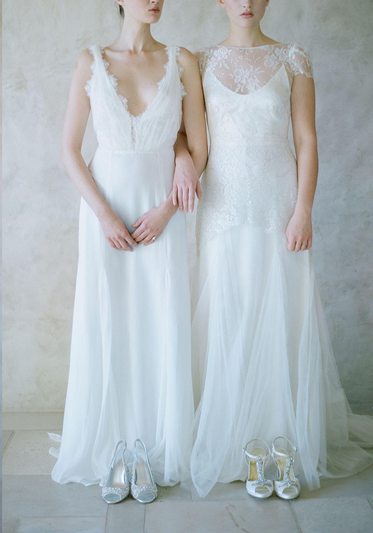 Elegant Fine Art Bridal Shoes by Freya Rose | Wedding Sparrow ...