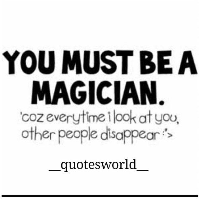 Magician pick up lines