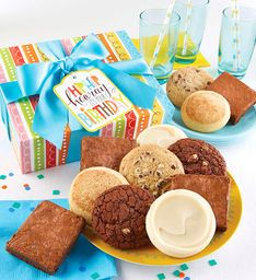 Gluten free birthday cookie brownie gift boxes gift baskets gluten free birthday cookie brownie gift boxes negle Image collections