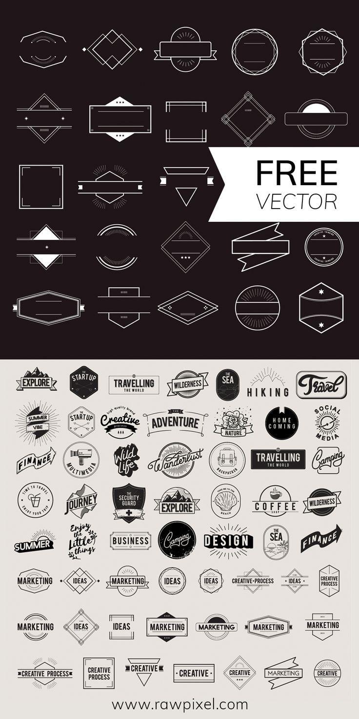 Laden Sie kostenlose HipsterAbzeichenVektorgrafiken unter rawpixel com herunter  herunter HipsterAbzeichenVektorgrafiken kostenlose Laden rawpixelcom Sie unter vector is part of Logo design free templates -