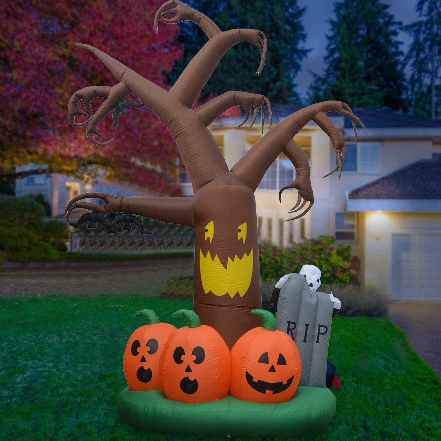 Phoenixreal 12 Foot Halloween Inflatable Dead Tree Air