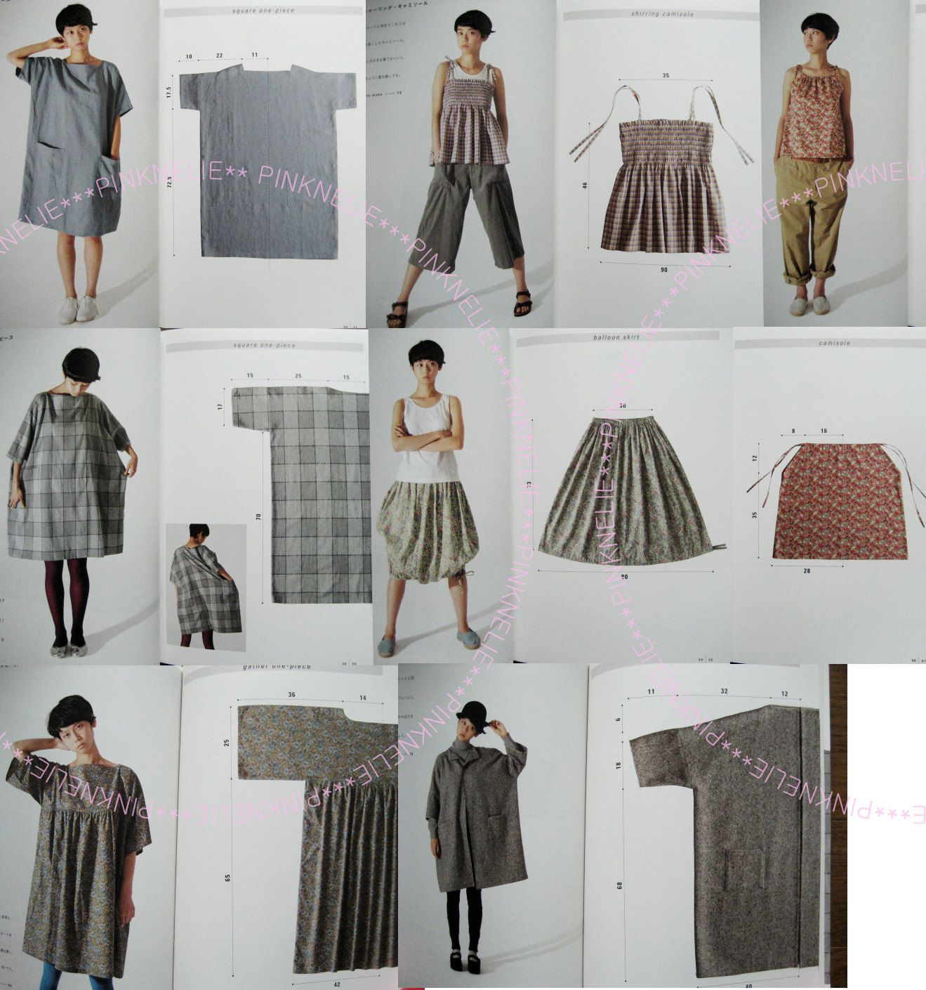 YOSHIKO TSUKIORI Cute Straight Easy Sewing Japanese Craft Book ...