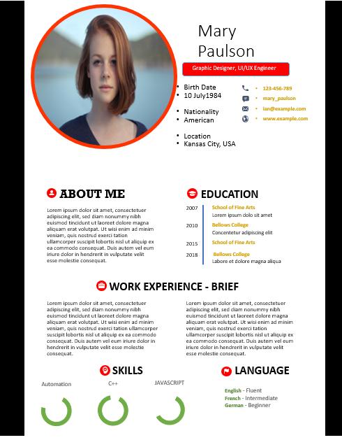 free cv format cv templates cv resume templates resume ...