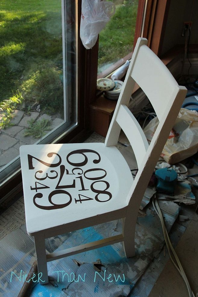 Stenciled Chair Using Pottery Barn Knock Off | Pottery ...