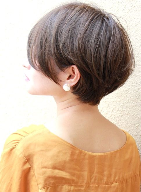 アッシュ ミルクティー アッシュブラウン関連のショートヘアです