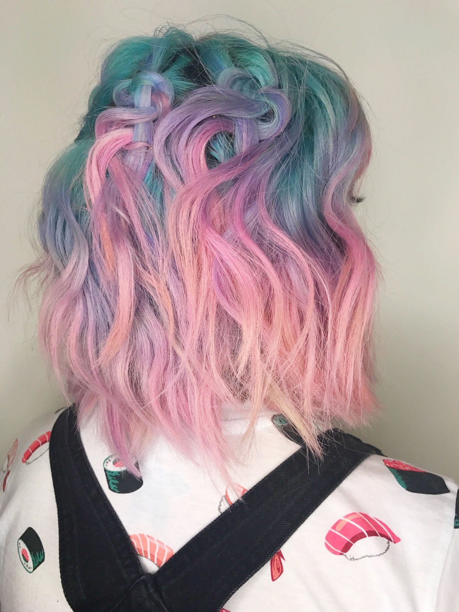 Mermaid hair hair dye pinterest youtube hair coloring and