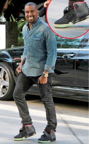 I love Yeezy...it s a fact and he is making a denim button down look hip  hop chic with Air Yeezys on his feet. 786fcaf1f61c