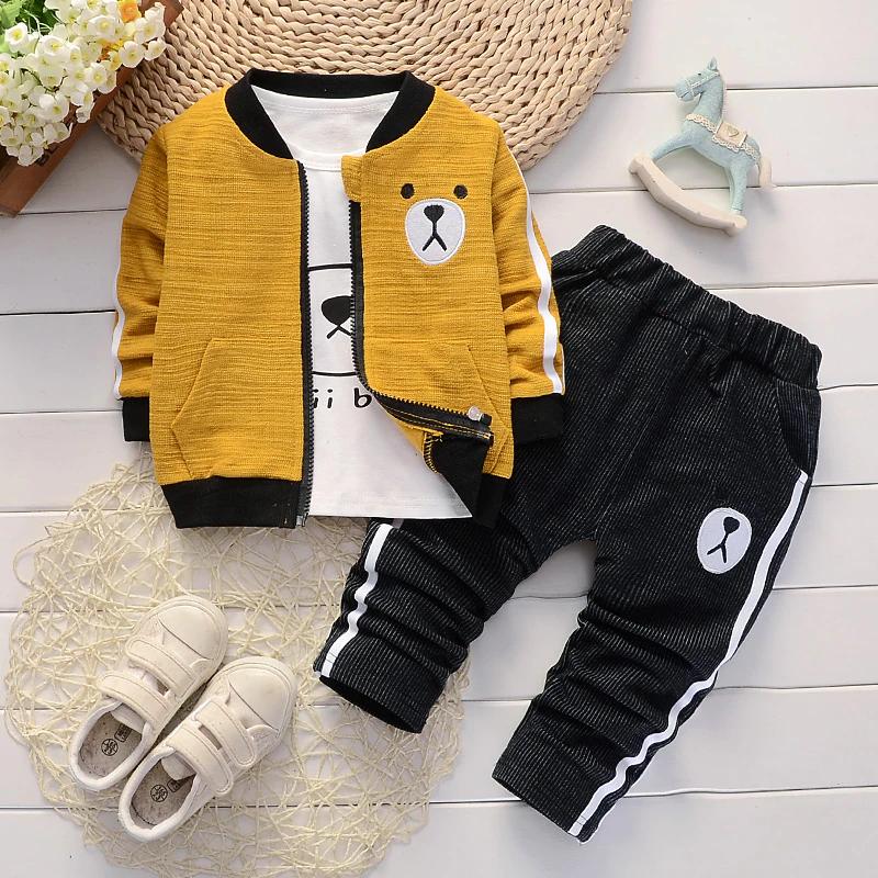 Bébé Enfants Garçons Vêtements Top Coat /& Pantalon Tenues faux-deux Smoking