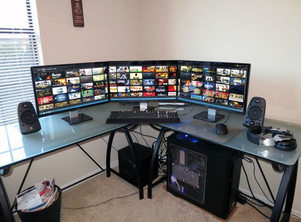 astounding design gaming setup desk. Twenty Amazing Computer Arrangements For Gamers  Home Design