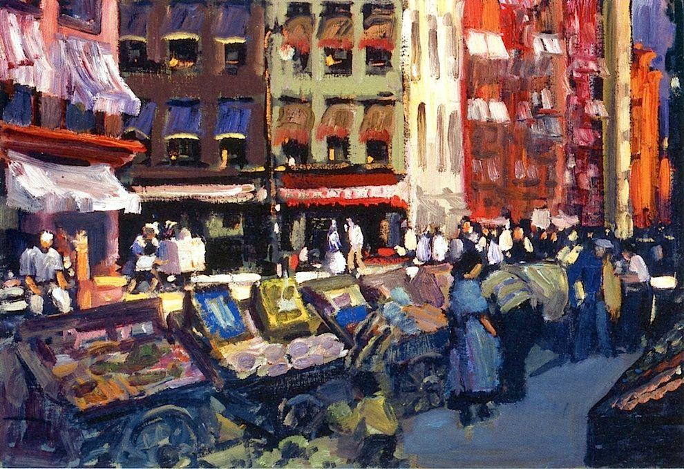 bofransson:  Thompson and Bleecker Streets George Benjamin Luks - circa 1905