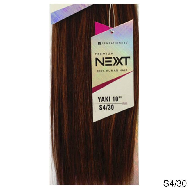 Sensationnel Premium Next 100 Percent Human Hair 8 Inch Yaki Weave