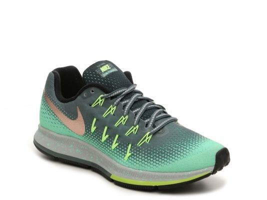 size 40 40067 126d1 Women s Nike Zoom Pegasus 33 Shield Performance Running Shoe - - Grey Green  ...