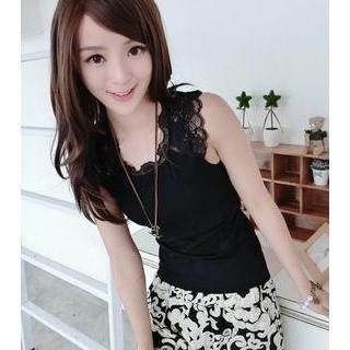 Buy '59 Seconds – Lace Yoke Sleeveless Top' with Free Shipping at YesStyle.com.au. Browse and shop for thousands of Asian fashion items from Hong Kong and more!
