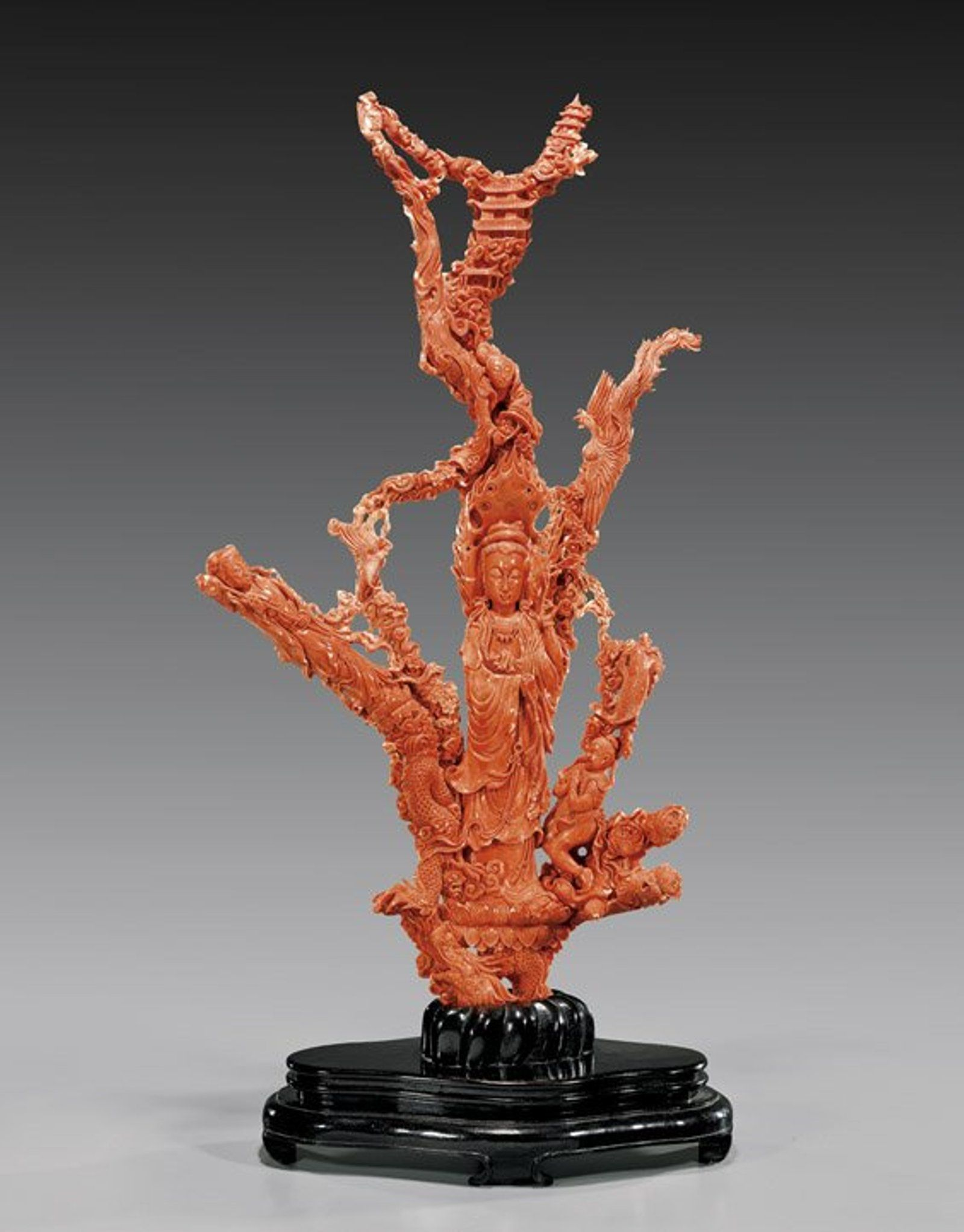 Massive Antique Carved Coral Group Jul 27 2014 I M Chait Gallery Auctioneers In Ca Coral Sculpture Carving Coral Art