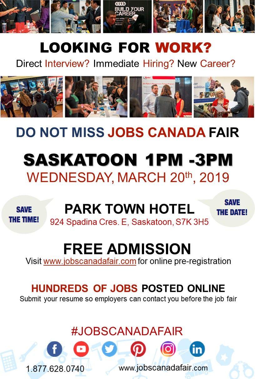 Looking for a job? Direct interview? Saskatoon Job Fair