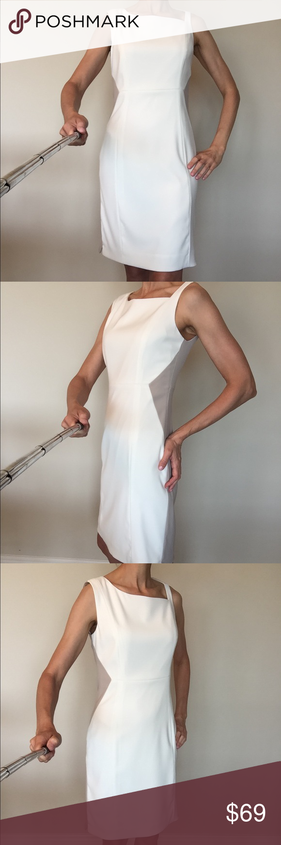 33f66233a660 Off white and taupe Elie Tahari dress Off white front and taupe color back  with gold zipper Elie Tahari dress. No stains or rips, excellent condition.