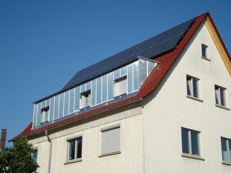 Dachgaube mit Metallverkleidung angebracht von der ...
