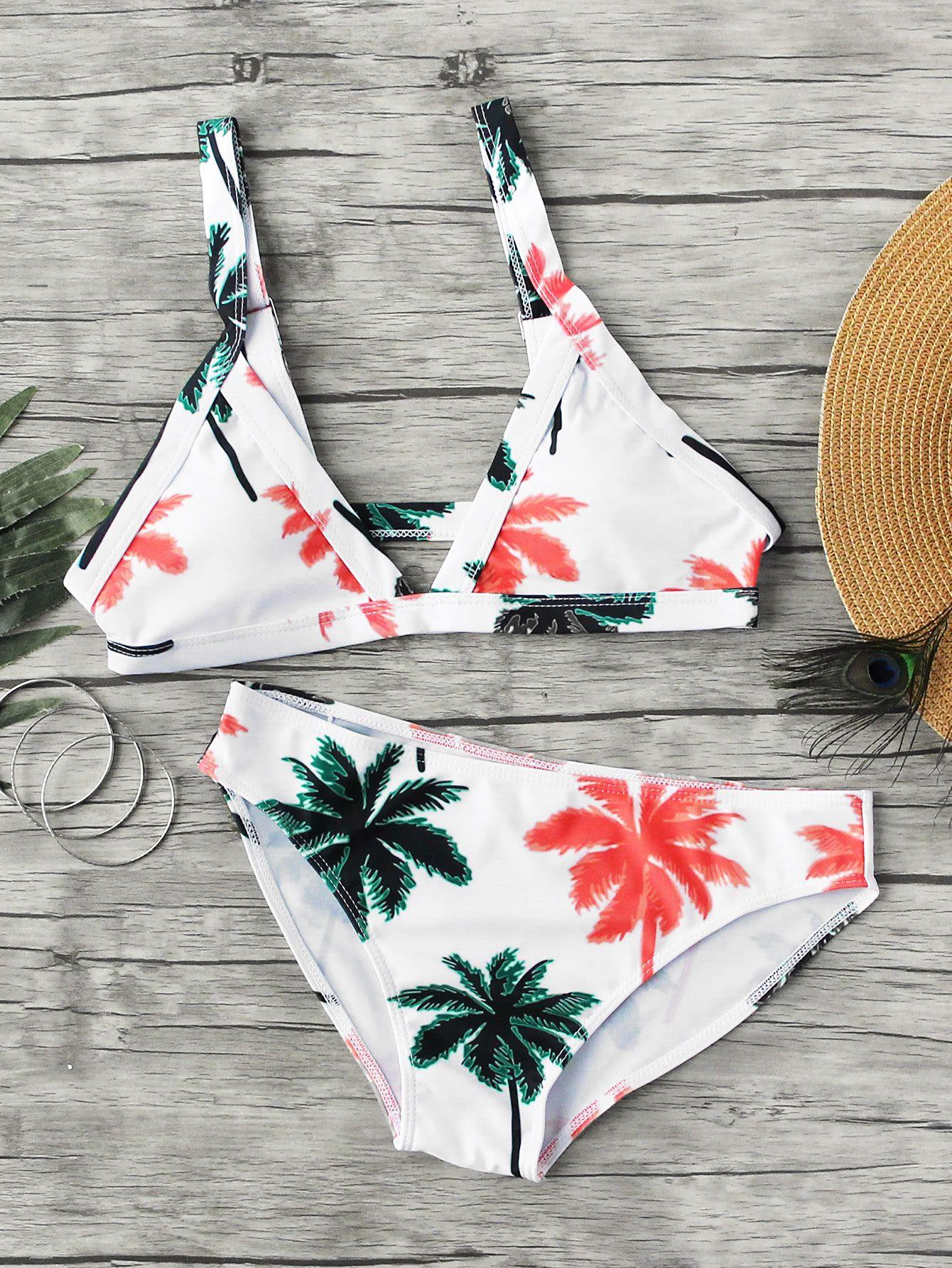 30786875576cc Palm Tree Print Bikini l Polyester l www.CarolinaDesigns.com ...