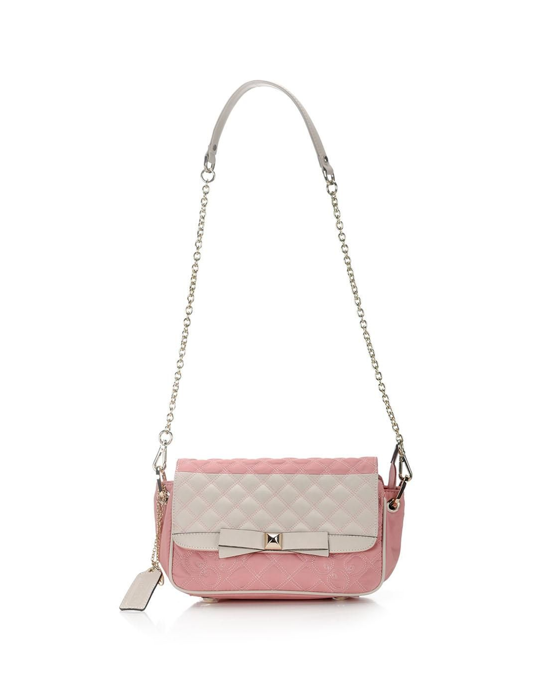 a61ada12f643  AdoreWe  VIPme Shoulder Bags - QIANBH Fashion Pink and Nude Mini Shoulder  Bag -
