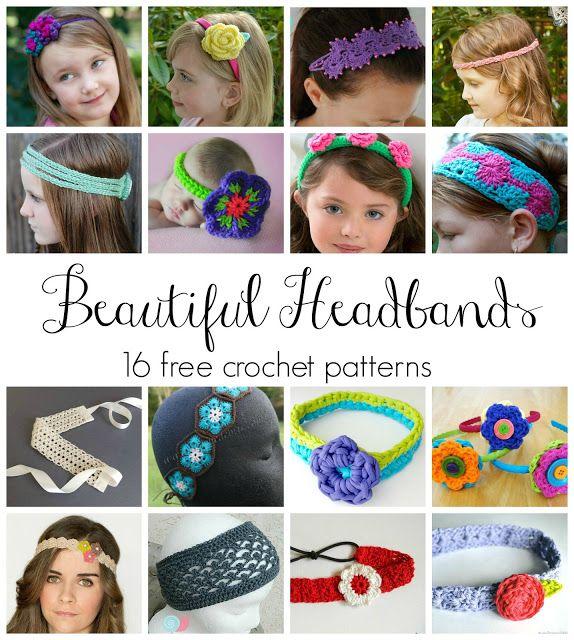 Beautiful Headbands! 16 Free Crochet Patterns | crochet | Pinterest ...