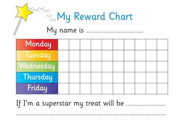 Printable Reward Chart For Teachers  Kiddo Shelter  Printable