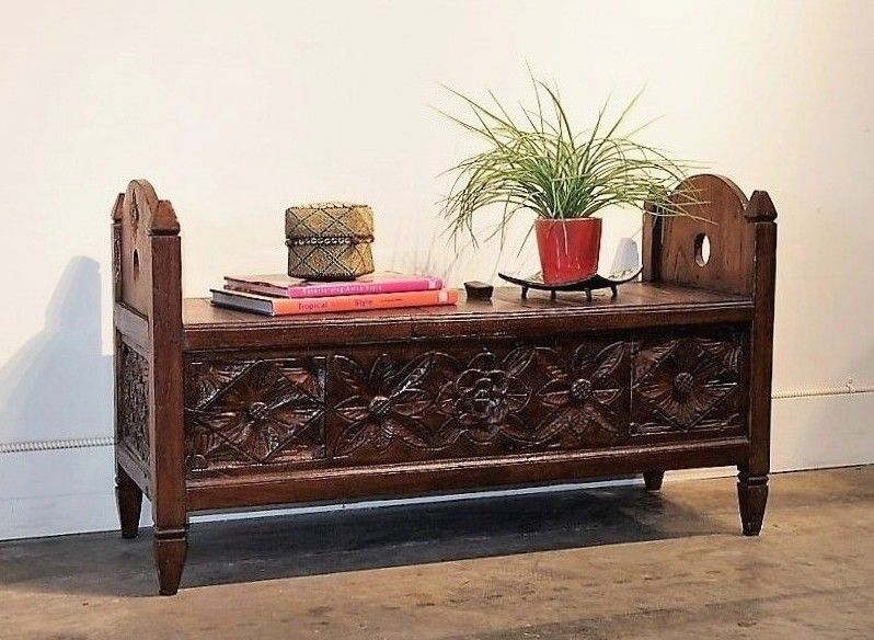 Tea Chest Coffee Table Part - 29: Carved Indonesian Wedding Chest Coffee Table | Gado Gado L Bali Style