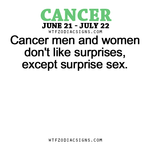 What do cancer men like sexually