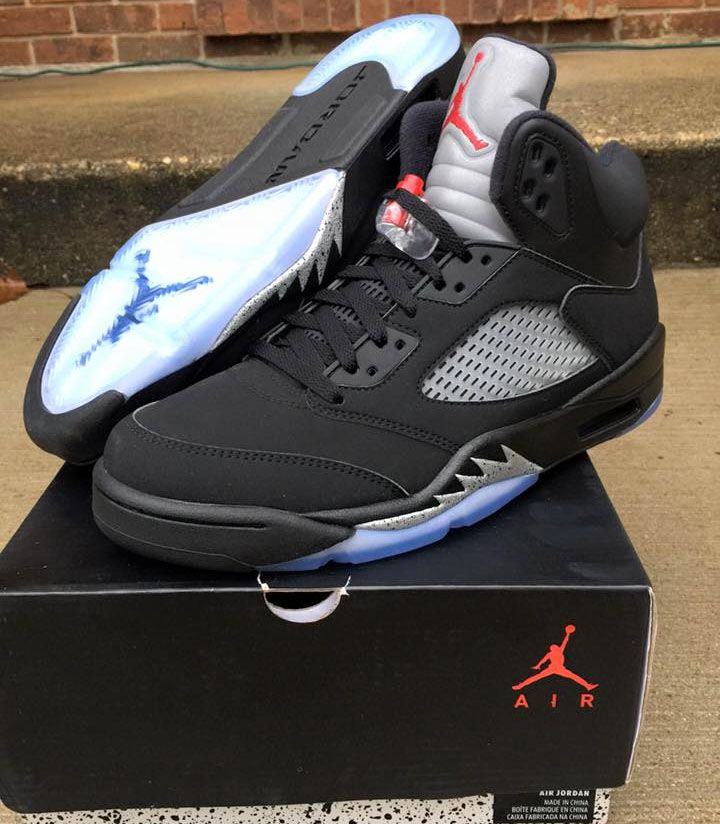 Nike Air Jordan 5 OG Black Metallic Silver 2016 Release Date. Air Jordan 5  OG Black Metallic Silver Fire Red 2016 returns with Nike Air branding in