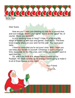 Free Letters From Santa  Tons Of Templates To Print  Santa