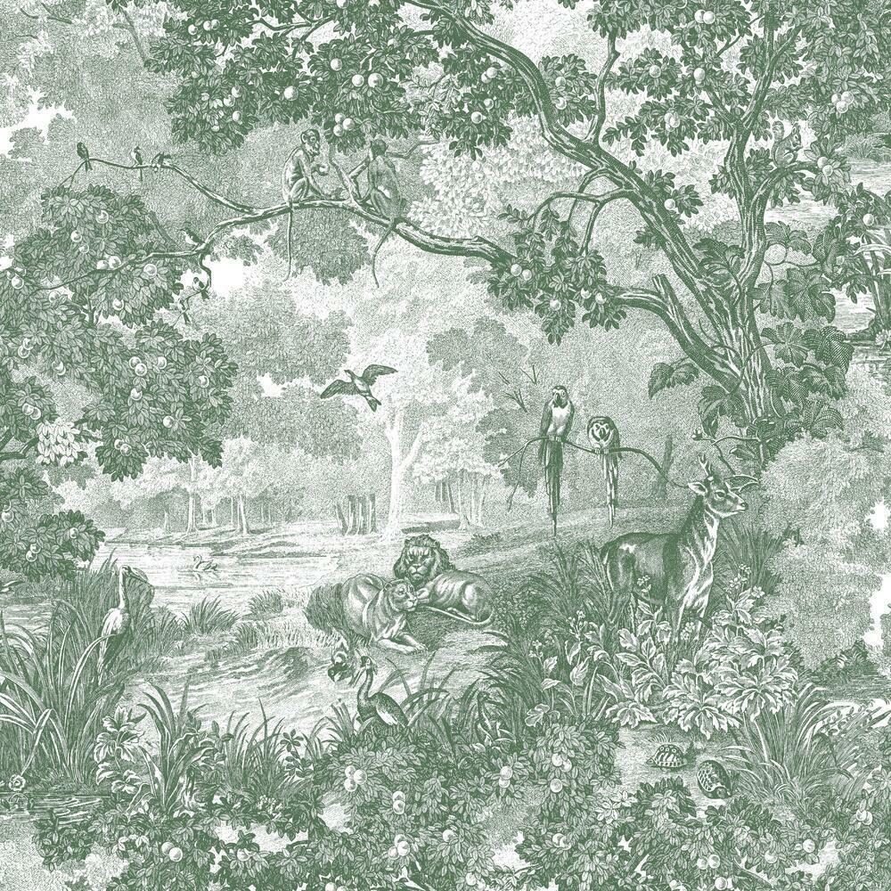 New York Toile Peel Stick Wallpaper Toile Fabric Wallpaper Stairs Live Oak Trees