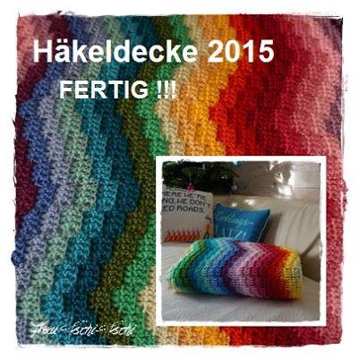 Frau Tschi Tschi Häkeldecke 2015 Regenbogendecke Fertig Crochet