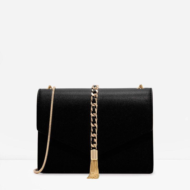 b94a84a0e4f CHARLES   KEITH Tassel Chain Crossbody   fashion   Pinterest   Bags ...