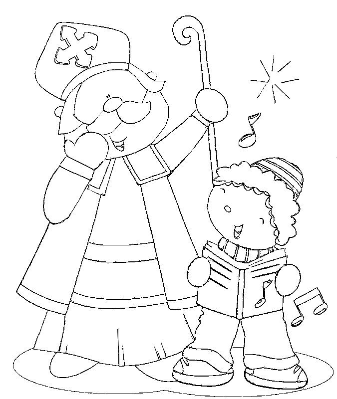 Coloring Page Saint Nicholas Day St Nicholas Day Coloring Pages