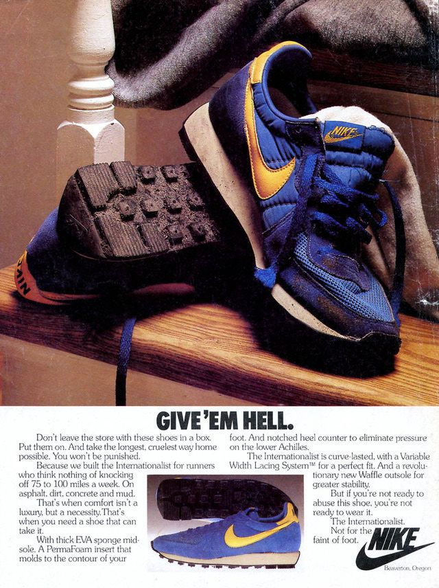 8a53e45a5f 10 of the Coolest Vintage Sneaker Ads from the 1980 s  Nike  Internationalist – 1980