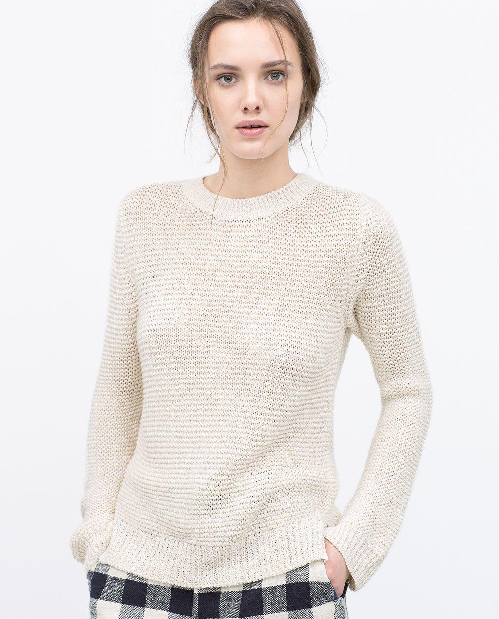 LINK KNIT SWEATER-Knitwear-WOMAN-SALE | ZARA United States | Zara ...