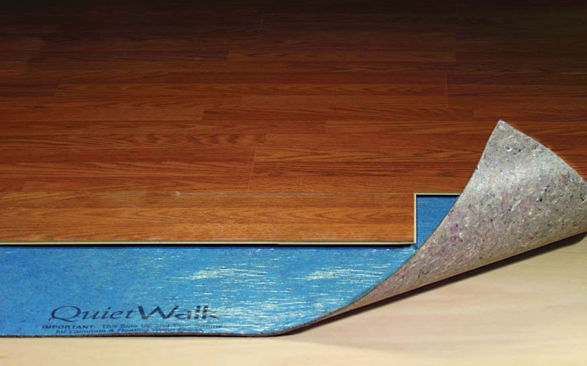 Cutaway Showing Quietwalk Premium Acoustic And Insulating Underlayment For Floating Wood Laminate Floors Outperforms Cork Rubber In