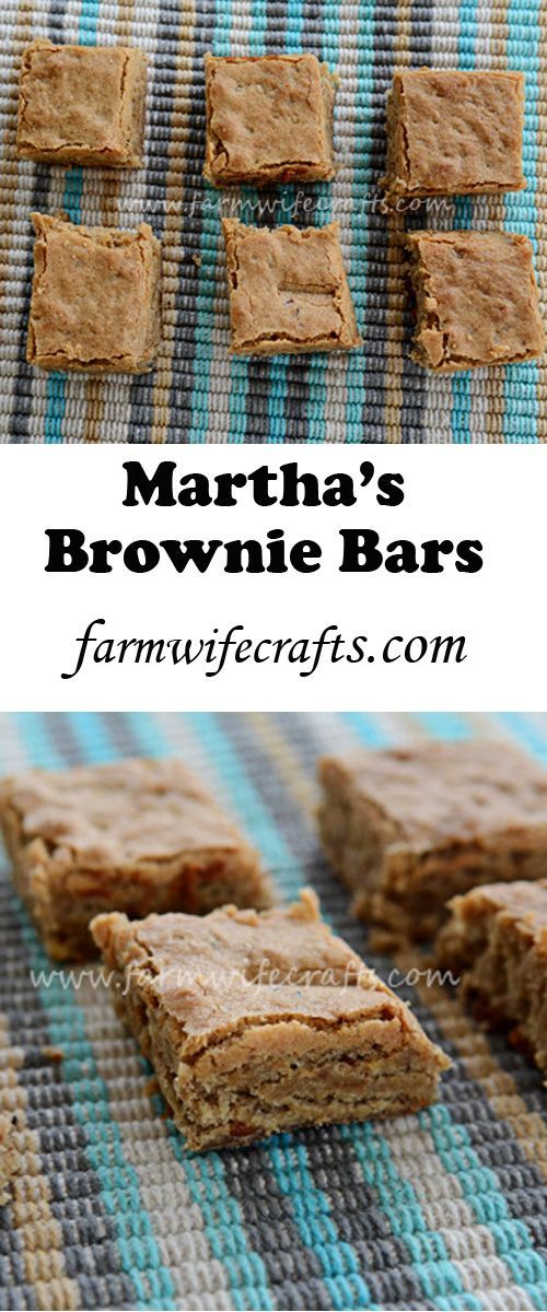 Martha's Brownie Bars from Gooseberry Patch are easy to make and a new favorite dessert at our house.