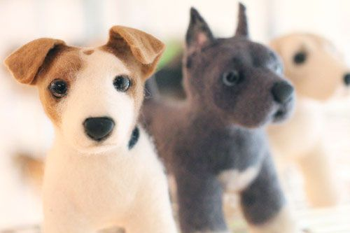 3448669f487d Send a picture of your dog and they will make you a felted replica.  Proceeds go to helping animals in shelters!