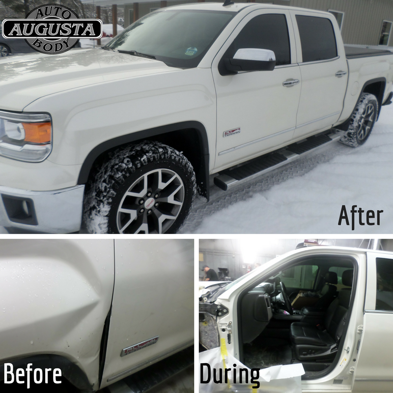 We Repaired And Painted This 2014 Gmc Sierra Slt Pickup After It